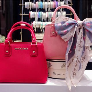 Maison de FLEUR - メゾンドフルール サッチェル ショルダーバッグ  トートバッグ ピンク