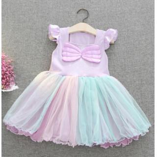 【新品】♡大人気♡女の子 ワンピース ふわふわ 可愛い 半袖 スカート フリル(ワンピース)