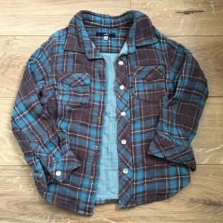 SHIPS - シップス チェック シャツ ネルシャツ 100