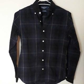 ジムフレックス(GYMPHLEX)のジムフレックス ビエラ起毛 ボタンダウンチェックシャツ 紺系 長袖 12(シャツ/ブラウス(長袖/七分))