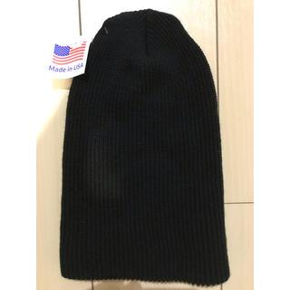 ロスコ(ROTHCO)のROTHCO knitcap ロスコニット帽 ブラック アクリルワッチ ブラック(ニット帽/ビーニー)