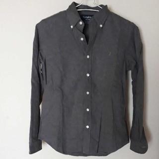 ジムフレックス(GYMPHLEX)のジムフレックス ビエラ起毛 ボタンダウンシャツ 無地グレー 長袖 12(シャツ/ブラウス(長袖/七分))