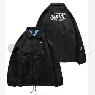 X-girl - エックスガール ボックスロゴ コーチジャケット 黒