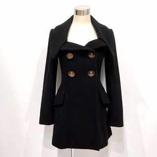 Vivienne Westwood - ヴィヴィアンウエストウッド 変形 襟 ウール ピーコート