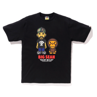A BATHING APE - BIG SEAN X BAPE BABY MILO TEE ブラック