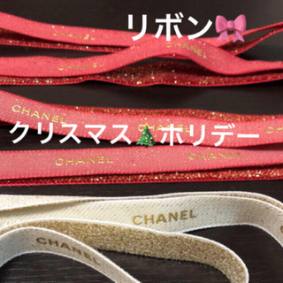 CHANEL - 🎀シャネル  ホリデーコレクション リボン 赤 黒 白 クリスマス限定