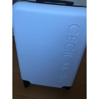 セシルマクビー(CECIL McBEE)のセシルマクビー 福袋 シンプル 大きめ キャリーケース 白 (スーツケース/キャリーバッグ)