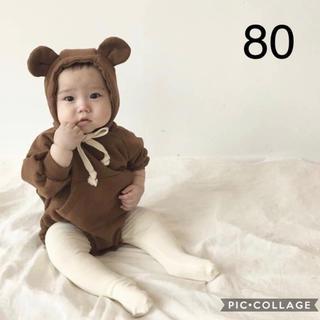 韓国子供服 新品 クマなりきりロンパース