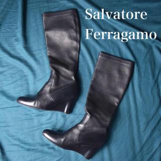 Salvatore Ferragamo - サルヴァトーレ フェラガモ  レザー ロングブーツ