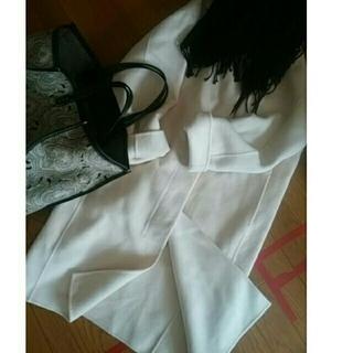 IENA - イエナ ホワイト 白 ダブルフェイス コート ウール iena
