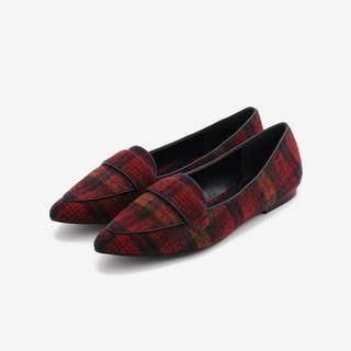 プラステ(PLST)のPLST  チェックフラットシューズ  (ローファー/革靴)