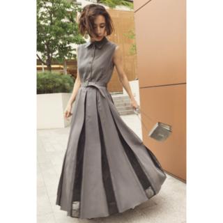 Ameri VINTAGE - Ameri LADY ALTERNATELY DRESS 19AW グレー