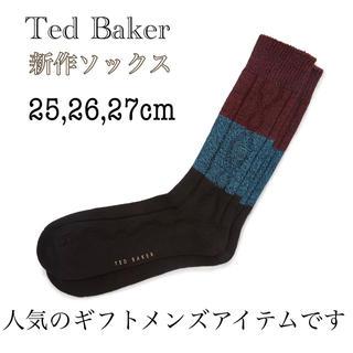TED BAKER - 新品・タグ付【Ted Baker】KEENS☆新作★ソックス デザイン ブラック
