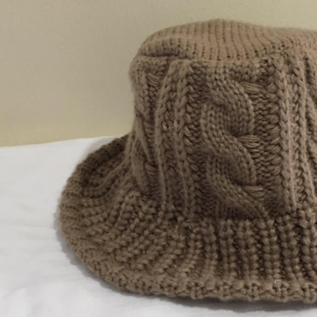 JOURNAL STANDARD(ジャーナルスタンダード)のSALE♡縄編みknit hat   moca レディースの帽子(ハット)の商品写真