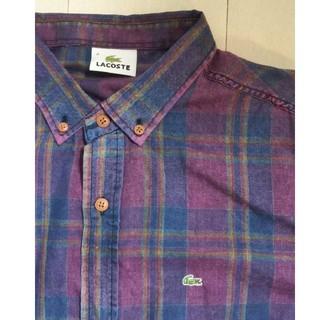 LACOSTE - ラコステ チェックシャツ シャツ メンズ レディース