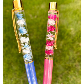 【替芯付き】お花いっぱい♡2本セットペア☆ハーバリウムボールペン   (その他)
