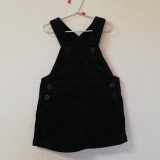 MUJI (無印良品) - 値下げ 無印 ベビー 女児 80 ネイビー コーデュロイ ジャンパースカート