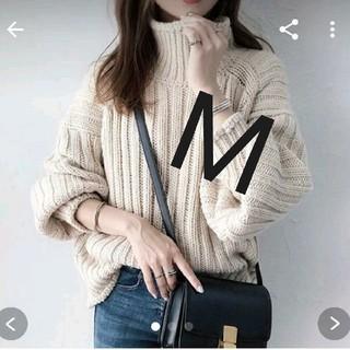 H&M - H&Mチャンキーニット リブニットタートルネックセーター