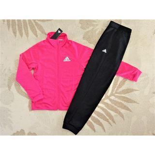 adidas - 新品♪アディダスガールズ♪160♪裾ゴムで長く着れる!!ジャージ上下♪ピンク