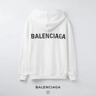 Balenciaga - 2枚9000円送料込み★BALENCIAGA★長袖パーカー男女兼用【白のL】