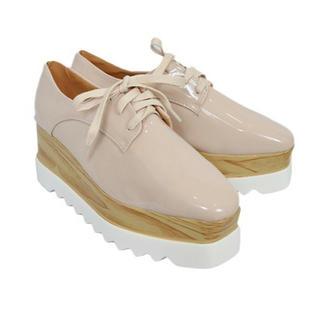 ステラマッカートニー風 厚底革靴(ローファー/革靴)