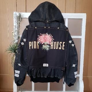 ピンクハウス(PINK HOUSE)のPINK HOUSE ピンクハウス ゼッケン付き いちごブーケ柄 ブルゾン(ブルゾン)