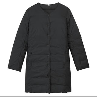 ムジルシリョウヒン(MUJI (無印良品))の無印良品 ポケッタブルコートブラックMサイズ(ダウンコート)