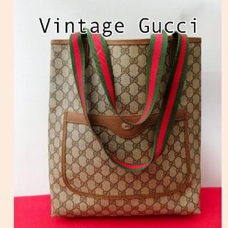 Gucci - 良品 オールドグッチ シェリーライン ビンテージトートバッグ ハンドバッグ レア
