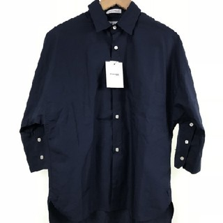 マディソンブルー(MADISONBLUE)の美品 マディソンブルー ネイビー シャツ 1(シャツ/ブラウス(長袖/七分))