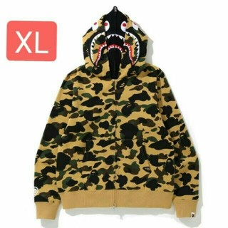A BATHING APE - 1ST CAMO SHARK FULL ZIP DOUBLE HOODIE XL