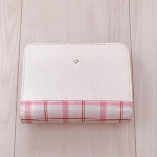 4℃ - ピンクチェック 折財布