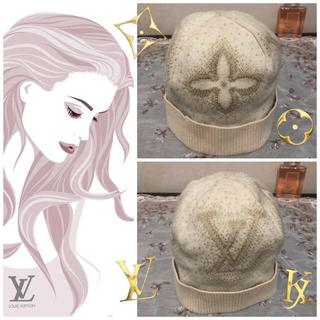 ルイヴィトン(LOUIS VUITTON)のLouis Vuitton (ルイ・ヴィトン) ♡ カシミヤ素材 ロゴニット帽(ニット帽/ビーニー)