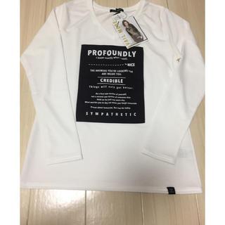 アベイル(Avail)の新品未使用タグ付き アベイル レディース 長袖 白 L(Tシャツ(長袖/七分))