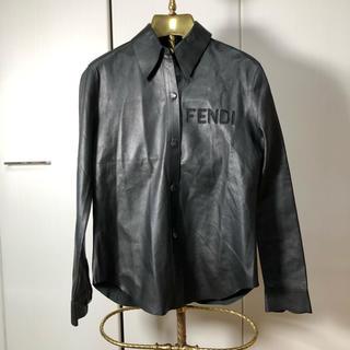 フェンディ(FENDI)の高級 FENDI フェンディ レザー シャツ 正規品(カットソー(長袖/七分))