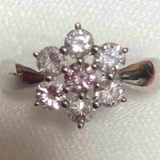 ピンクダイヤモンド お花リング(リング(指輪))