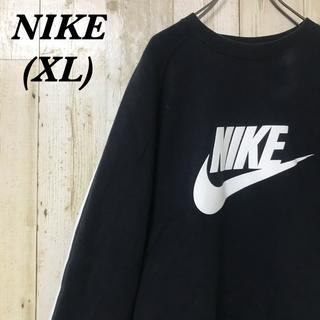 NIKE - 【激レア】ナイキ☆ビッグロゴ サイドライン ブラック スウェット