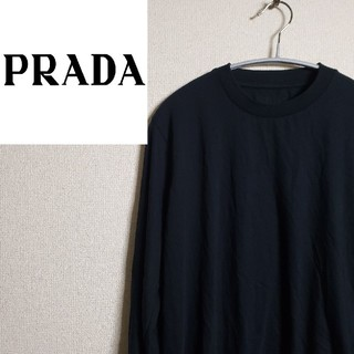プラダ(PRADA)のプラダ ロンティー クルーネック 三角ロゴ プレートロゴ ブラック モード(Tシャツ/カットソー(七分/長袖))