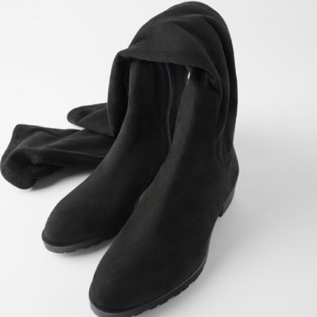 ZARA(ザラ)の値下げ!タグ付 ZARA ロングブーツ 36 レディースの靴/シューズ(ブーツ)の商品写真