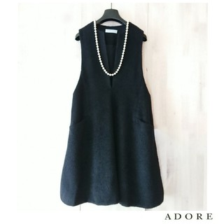 ADORE - ◆幻◆ 秋冬美品 定価7.5万円 ADORE アルパカシャギーワンピース