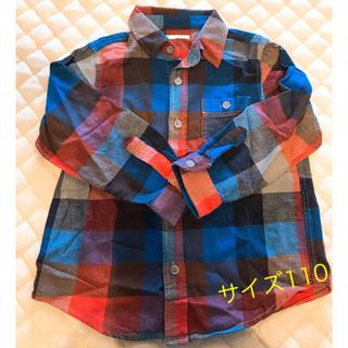 ジーユー(GU)のGU ネルシャツ 110サイズ(カーディガン)