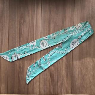 Tiffany & Co. - タグ無し ティファニー ツイリー シルク スカーフ ブルー