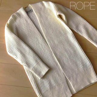 ROPE - ラクマ3%クーポンの期間中値下げ🌸ROPE  カーディガン オフホワイト ロペ