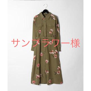 GRACE CONTINENTAL - 新品☆グレースコンチネンタル 刺繍アーミーシャツワンピース