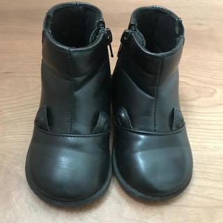 プティマイン(petit main)のプティマイン 耳付き サイドゴアブーツ 15センチ(ブーツ)