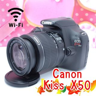 Canon - 【付属品フルセット】コロンと丸くて可愛い♪キヤノン Kiss X50!