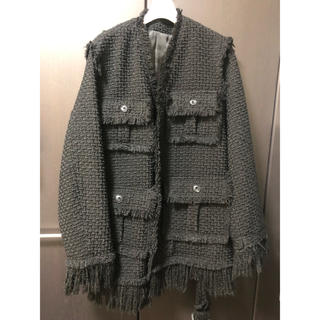 Maison Martin Margiela -  perverze   Crash Tweed V Collar Coat