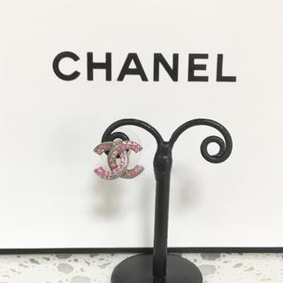 CHANEL - 正規品 シャネル ピアス 片方 シルバー ココマーク ピンク ストーン 銀 石
