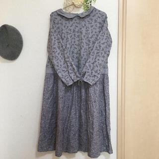 サマンサモスモス(SM2)の❤️専用となりました❤️サマンサモスモス*襟付き小花柄ワンピース(ロングワンピース/マキシワンピース)