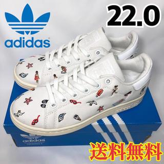 アディダス(adidas)の★新品★アディダス  スタンスミス  スニーカー サマー かわいい刺繍 22.0(スニーカー)