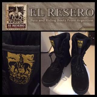 【超希少☆】EL RESERO  black スエード ブーツ 40(ブーツ)